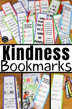 These kindness bookmarks will encourage kids to be kind while reading kindness books and books with characters who aren't so kind. These kindness bookmakrs for kids are interactive and great for classrooms, school libraries, public libraries and for families #kindnessbookmarks #kindnessbookmarksforkids #kindnessactivitiesforkids #kindnessactivities #booksmarksforschoollibrarians Kindness Projects, Kindness Activities, Kids Learning Activities, Public Libraries, School Libraries, Books About Kindness, Kindergarten, Kindness Challenge, Tools For Teaching