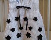 Robe trapèze bébé en coton blanc : Mode Bébé par boshi