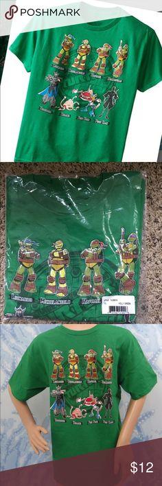 Nickelodeon Teenage Mutant Ninja Turtles X-Large Green XL (size 18) Boys T-shirt with portrait of Teenage Mutant Ninja Turtles New Nickelodeon Shirts & Tops Tees - Short Sleeve