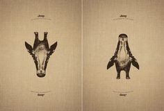 One Animal Becomes a Different Animal When You Rotate These Illustrations Upside Down - What an ART