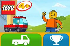 LEGO® App4+ iPhone App - have fun moving the car to the finish line. Children will develop fine motor and movement skills.