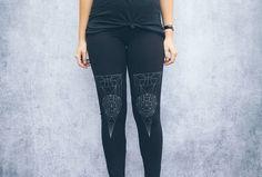Black Refraction Jersey Leggings by FennecDesignCo on Etsy https://www.etsy.com/listing/190854942/black-refraction-jersey-leggings