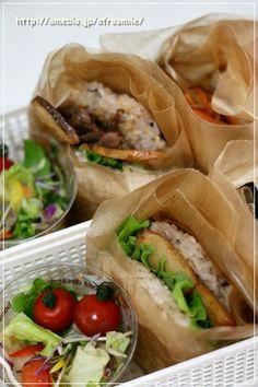 Very Easy ☆ Rice Burgers ♪ | COOKPAD