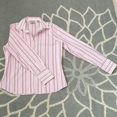 Eddie Bauer Long Sleeve Eddie Bauer-Collared Button up. Long Sleeve. Never Been Worn. Wrinkle resistant material. Cute, classy and professional. I bought it wear around the house. It just got stuck in the back of my closet of doom LOL  Eddie Bauer Tops Button Down Shirts