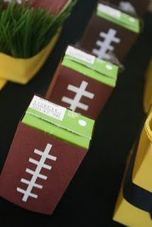 wrap juice boxes in brown paper to create this fun Superbowl drink.