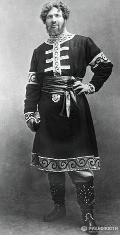 "Feodor Chaliapin, a Russian bass opera singer, as Prince Galitsky in ""Prince Igor"" Opera by Alexander Borodin. Late 19th – early 20th century."