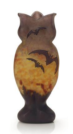Daum vase, c. Art Nouveau, Art Deco, Antique Glass, Antique Art, Depression Art, Sacred Art, Carnival Glass, Belle Epoque, Hand Blown Glass