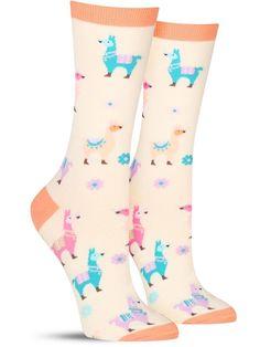Women s Socks 1000 Fun Colorful Socks to Choose From The Sock Drawer Sock Animals, Farm Animals, Llama Socks, Cute Socks, Women's Socks, Crazy Socks, Colorful Socks, Fashion Socks, Fit Women