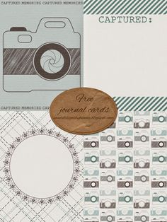 Free Captured Journal Cards from Sweet Designs By Hanna