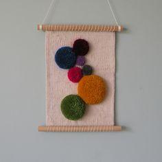 #wovenwallhanging #wallhanging #woven #weaving #art #modernart #circles #artist