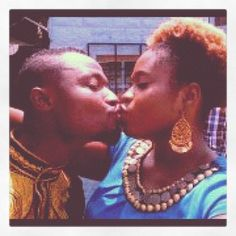 Funny Face kisses Lydia Forson