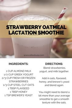 Every breastfeeding or pumping mom needs to know how to store breast milk properly in order to ensure your hard work doesn't go to waste. I mean breast milk is … Almond Milk Yogurt, Lactation Smoothie, Strawberry Oatmeal, Breastfeeding Foods, Breastfeeding Smoothie, Brewers Yeast, Lactation Recipes, Lactation Foods, Healthy Lactation Cookies