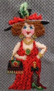 Fabulous stitch guide by Sandy Arthur of a Collection Of Designs needlepoint canvas. Uses Kreinik threads.