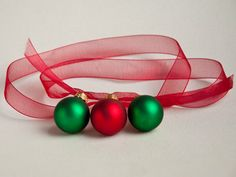 Red and Green Christmas Ornaments Necklace: Statement Necklace, via Etsy.