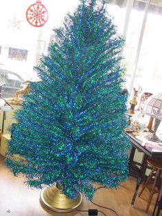 Revlis Starlite VTG 7' Green & Blue Aluminum Christmas Tree 193 Branches #31