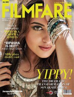 Coolest girl #SonakshiSinha on #Filmfare magazine cover.