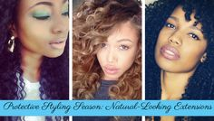 Protective Styling Season is Back! Get this Look: Natural Extensions