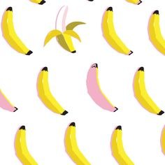 Kat Kalindi - www.teamkitten.com fruit banana print and pattern artwork surtex trend quirky art