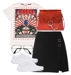 """""""Untitled #4013"""" by theeuropeancloset on Polyvore featuring Gucci, Acne Studios, Vans, Chloé and ZeroUV"""