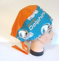 b36a3a7d737 Items similar to NFL New Logo Miami Dolphins Scrub Cap on Etsy