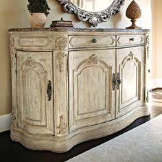 Features:  -Jessica Mcclintock Boutique collection.  -4 Doors.  -1 adjustable shelf behind center doors.  -Felt lined silver tray in left top drawer.  -2 Drawers.  -Wine racks behind each side door.