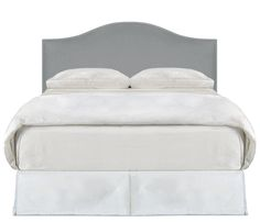 Adrienne Queen Headboard Grey Constructed Of Solid Pine And Stocked In A 100 Linen Fabric With Pewter Nailheads Sandstone Daughter S