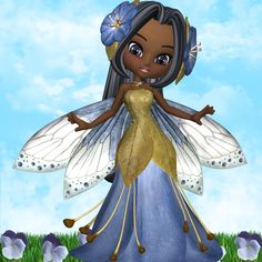"""Beautiful African American Fairy"""