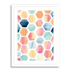 Gorgeous geometric prints from West Elm to add a splash of color in a modern home.