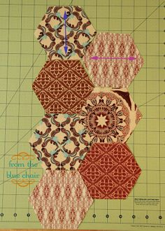 from the blue chair: How to Piece Hexagons: Part 1
