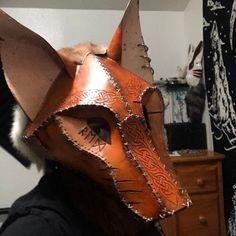 Kistune Fox Mask Base Pattern Tutorial for EVA foam | Etsy Cardboard Mask, Fox Mask, Mask Design, Masquerade, Base, Pattern, Foxes, Wolf, Leather