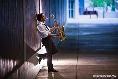 tucson senior portrait salpointe high school jazz band saxaphone