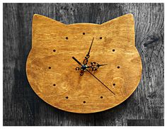 You'll always know when it's feeding time with this kitty clock. #cat #clock #home