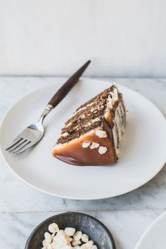 Gingerbread Layer Cake with Salted Whiskey Caramel {+ a Giveaway}