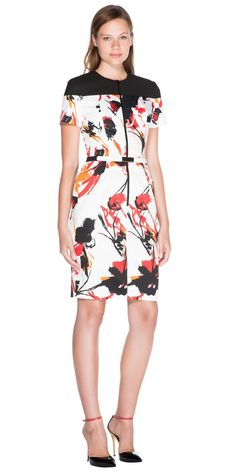 Dresses | Abstract Sateen Contrast Dress