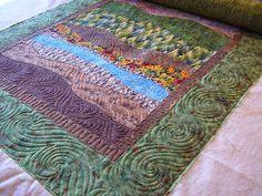 Creative Quilting by Debbie Stanton landscape quilting
