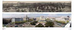 Plaça Catalunya, antes y ahora - Barcelona