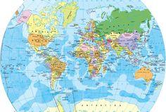 Mapa del mundo - Mapamundi del globo terráqueo