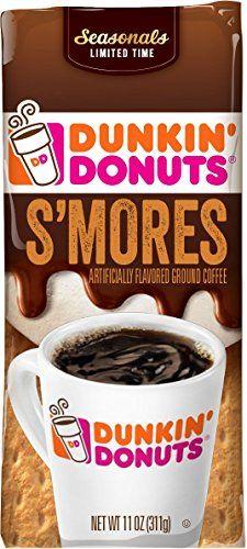 Dunkin' Donuts S'mores Flavored Ground Coffee, 11 oz Dunk... https://www.amazon.com/dp/B01C318LJU/ref=cm_sw_r_pi_dp_x_0SpwzbT2YKK55