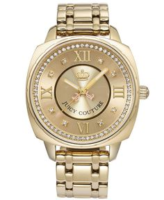 Juicy Couture Watch, Women's Beau Gold Plated Stainless Steel Bracelet 1900800 - Women's Watches - Jewelry & Watches - Macy's