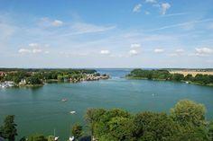 Blick von St.Marien auf die Müritz, Mecklenburger Seenplatte  #See #lake