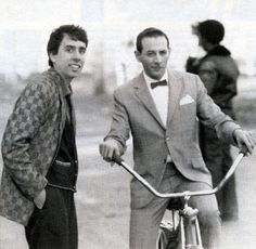 Tim-Burton-and-Paul-Reubens, how cool they are babies here. Two amazing people