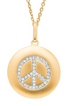 Peace Sign Necklace This is what my friend Gail needs for her 60th.. hint hint hubbyy;)
