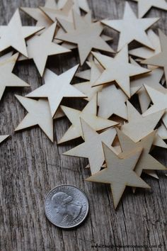 These are SMALL wood stars. 50 Wood Stars per lot. inch wide x inch thick. The stars are inch across at their widest point. Perfect for making Wooden Flags and Christmas ornaments/crafts. Woodworking Tools List, Popular Woodworking, Woodworking Projects, Woodworking Bench, Woodworking Videos, Woodworking Chisels, Woodworking Workshop, Custom Woodworking, Small Wood Projects