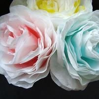 Paper Crafts: PAPER ROSES FROM COFFEE FILTERS