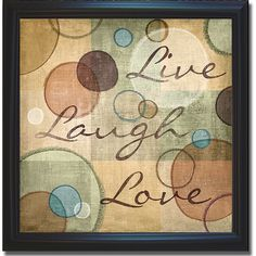 N. Harbick 'Live Laugh Love' Framed Canvas Art ($62) ❤ liked on Polyvore featuring home, home decor, wall art, black, word wall art, quote canvas wall art, typography wall art, canvas wall art and word canvas wall art Canvas Frame, Canvas Wall Art, Wall Art Prints, Fine Art Prints, Canvas Prints, Canvas Paintings, Canvas Quotes, Wall Art Quotes, Quote Wall