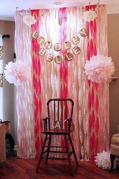 decorar una fiesta infantil con papel crepe