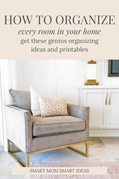 Discover how to be more organized at home with organizing ideas that will help you go through your house room by room and declutter and organize every space. Deep Cleaning Tips, House Cleaning Tips, Cleaning Hacks, How To Be More Organized, Getting Organized At Home, Home Organization Hacks, Organizing Your Home, Organised Housewife, Clutter Free Home