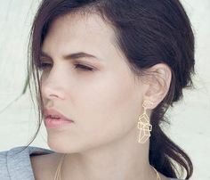 Composition Post Earrings