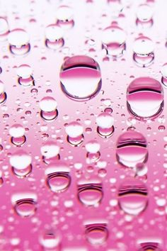 Water bubbles on pink