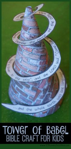 Tower of Babel Bible Craft for Kids - This is perfect for Sunday School Lessons for preschool, kindergarten, 1st grade, 2nd grade, and 3rd grade kids.